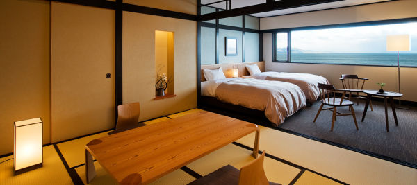 Twin + Japanese-style 8 tatami mat room